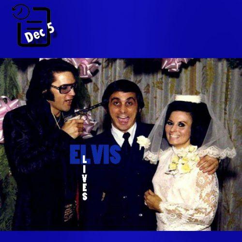 الویس در مراسم ازدواج جرج کلاین و باربارا لیتل چنین روزی 5 دسامبر 1970