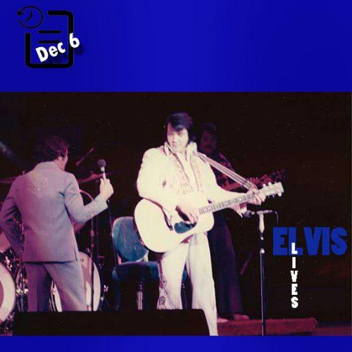 الویس در لاس وگاس چنین روزی 6 دسامبر 1976