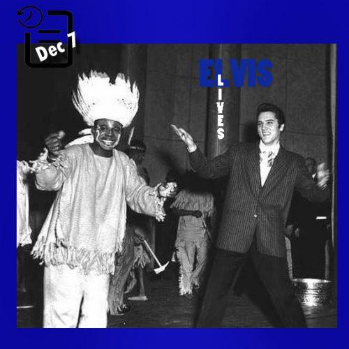 الویس در ایستگاه رادیویی WDIA's Goodwill Revue چنین روزی 7 دسامبر 1956
