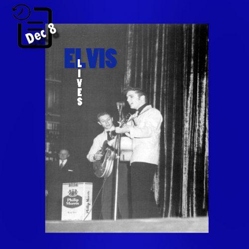 الویس در سالن تاتر ریالتو واقع در لوییز ویل در ایالت کنتاکی چنین روزی 8 دسامبر 1955