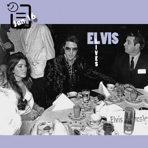 الویس و پریسیلا در مراسم ده جوان برتر سال چنین روزی 16 ژانویه 1971