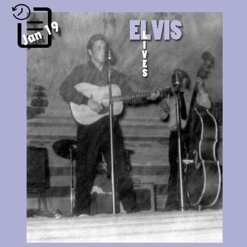 الویس در سالن اجتماعات مموریال ،در ویچیتا فالز ،تگزاس چنین روزی 19 ژانویه 1956