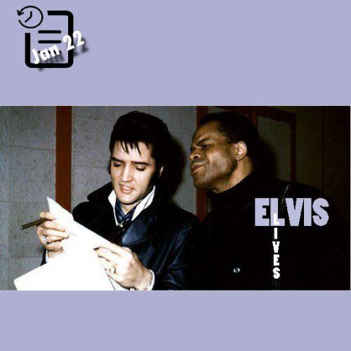 الویس در استودیو آمریکن در کنار روی همیلتون چنین روزی 22 ژانویه 1969