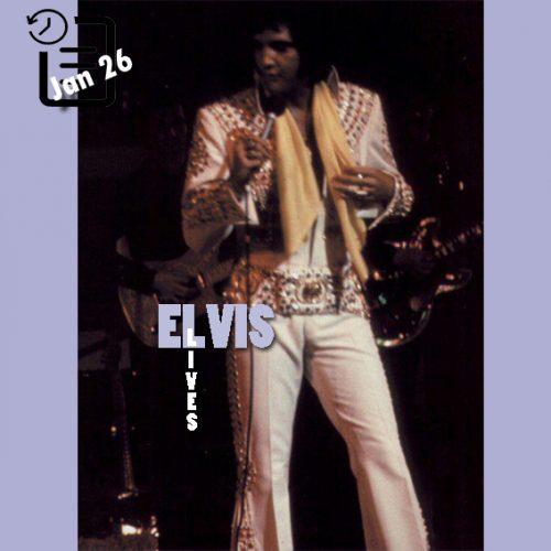 الویس در تالار نمایشات هیلتون ،لاس و گاس چنین روزی 26 ژانویه 1973