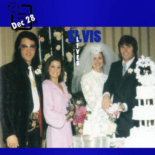 الویس در عروسی سونی وست چنین روزی 28 دسامبر 1970
