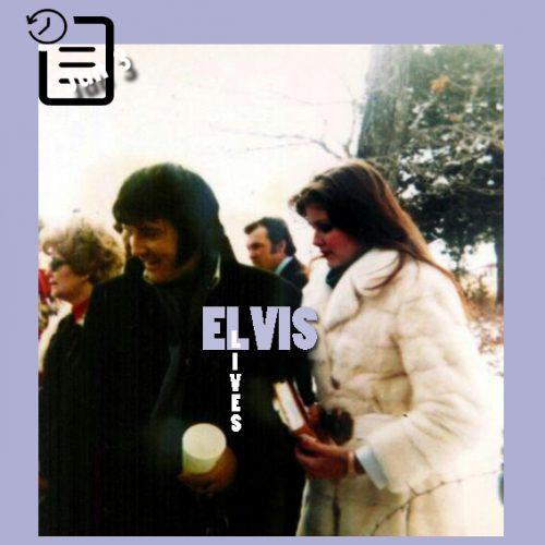 الویس و جینجر در مراسم تشیع جنازه پدربزرگ جینجر در هریسون ،آرکانزاس چنین روزی 3 ژانویه 1977