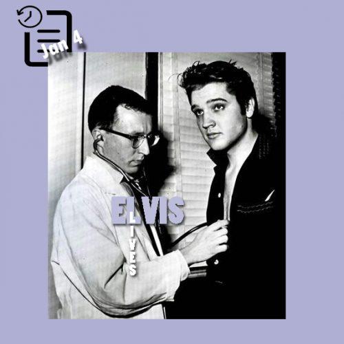 الویس در بیمارستان کندی وترانز جهت معاینات پزشکی چنین روزی 4 ژانویه 1957