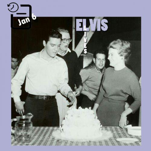 """الویس در مهمانی جشن تولدش در سر صحنه فیلمبرداری """" Wild In The Country """" چنین روزی 6 ژانویه 1961"""