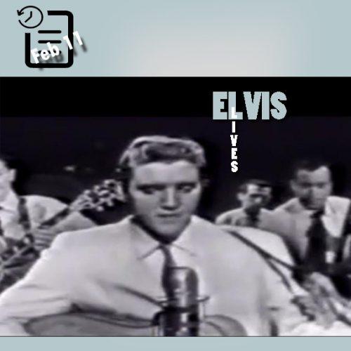 الویس در برنامه Stage Show در استودیو CBS ، در شهر نیویورک چنین روزی 11 فوریه 1956