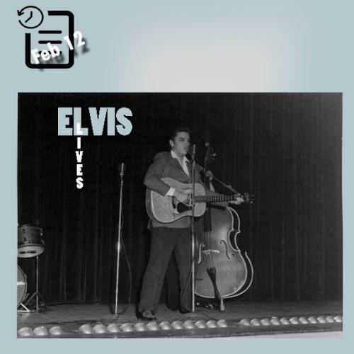 الویس در سالن مانتیسلو شهر نورفولک، ویرجینیا چنین روزی 12 فوریه 1956