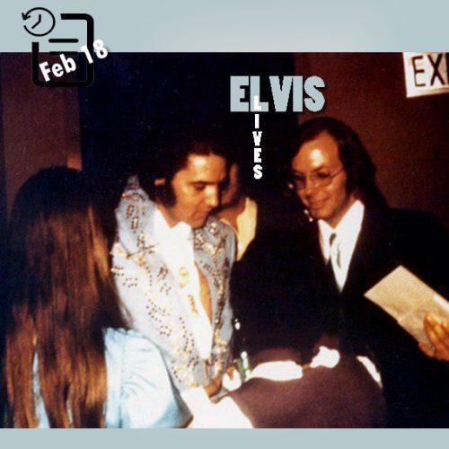 الویس در پشت صحنه در لاس و گاس چنین روزی 18 فوریه 1973