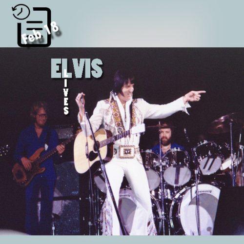 الویس در سالن بزرگ کارولینا ، شهر کلمبیا، در کارولینای جنوبی چنین روزی 18 فوریه 1977