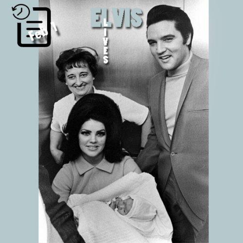 الویس و پریسیلا و لیزاماری در بیمارستان بابتیست ممفیس فوریه 1968