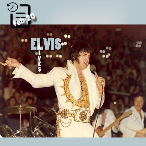 الویس در سالن اجتماعات شارلوت در کارولینای شمالی چنین روزی 20 فوریه 1977