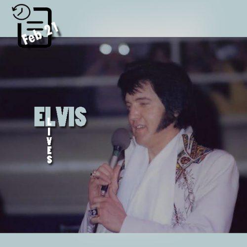 الویس در سالن اجتماعات شارلوت در کارولینای شمالی چنین روزی 21 فوریه 1977