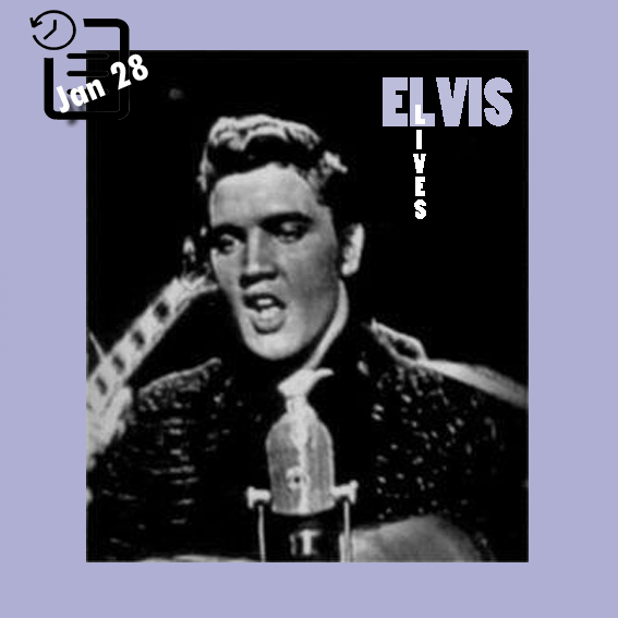 الویس در اولین شو تلویزیونی Stage Show در نیویورک چنین روزی 28 ژانویه 1956