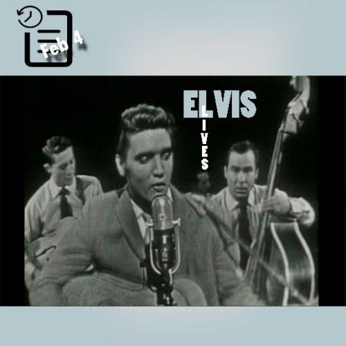 الویس در Stage Show واقع در استودیو CBS نیویورک چنین روزی 4 فوریه 1956