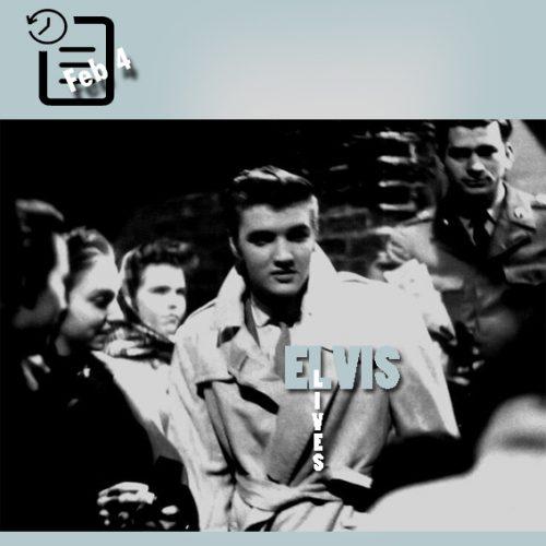 الویس و طرفدارانش در نیویورک فوریه 1956