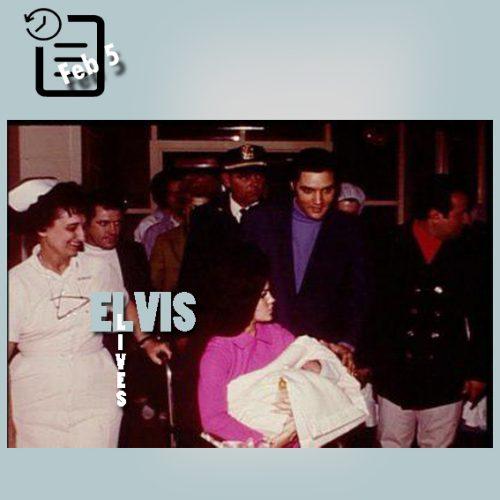 الویس , پریسیلا و لیزا ماری چنین روزی 5 فوریه 1968