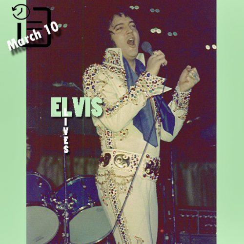 الویس در مرکز اجتماعات شهر رونوک ایالت ویرجینیا چنین روزی 10 مارس 1974