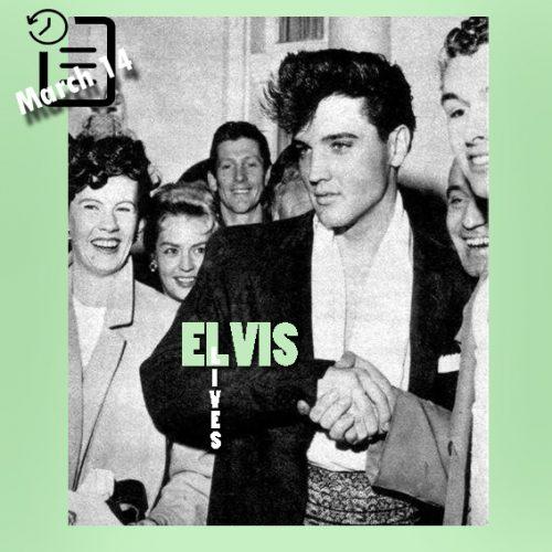 الویس و دوستدارانش چنین روزی 14 مارس 1960