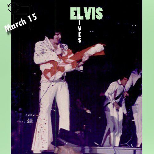 الویس در کانون ورزشی استوکلی ،دانشگاه تنسی ، واقع در ناکسویل تنسی چنین روزی 15 مارس 1974