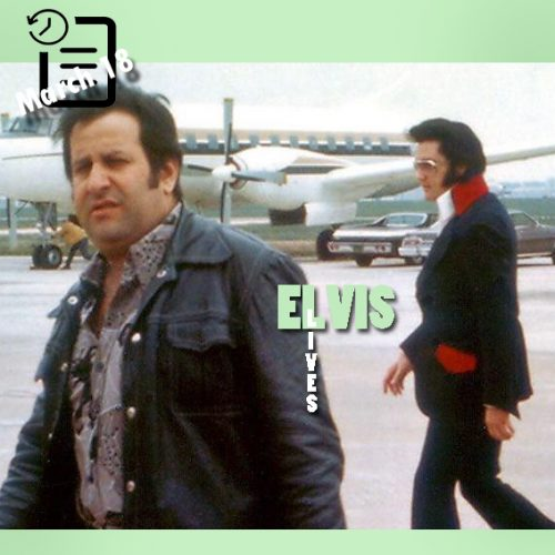 الویس و جو اسپوزیتو در فرودگاه ممفیس جهت حرکت به ریچموند ویرجینیا 18 مارس 1974