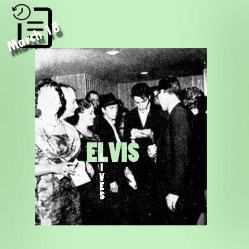 الویس در شیکاگو در مسافرخانه اوهارا چنین روزی 18 مارس 1961