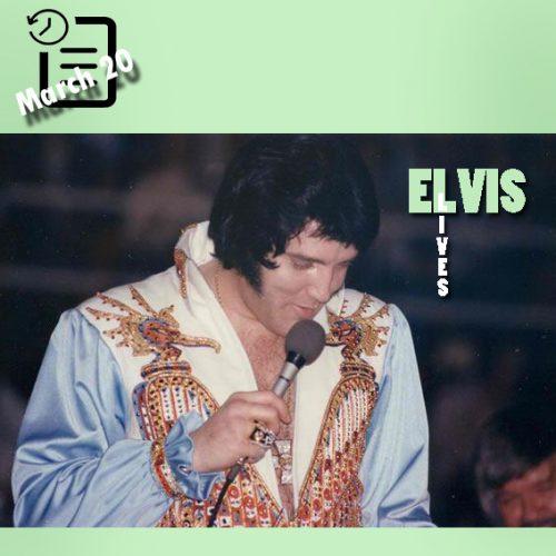 الویس در ساعت 2:30 بعداز ظهر در سالن بزرگ، شارلوت، کارولینای شمالی چنین روزی 20 مارس 1976