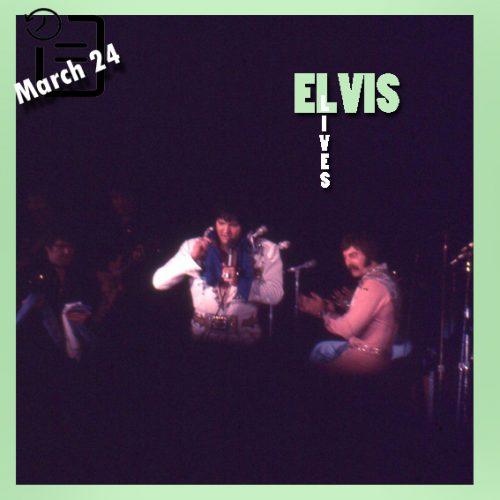 الویس در مرکز اجتماعات، آماریلو، تگزاس چنین روزی 24 مارس 1977