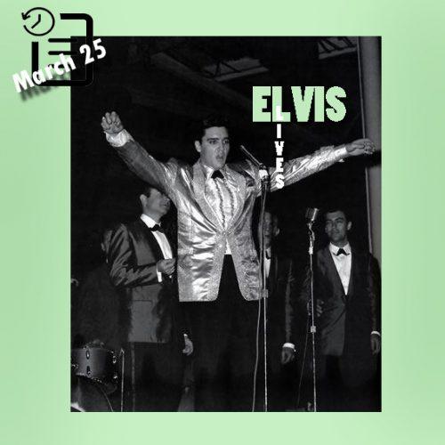 الویس در حال اجرای زنده در بلوخ آرنا، هونولولو آخرین اجرای زنده الویس تقریبا به مدت 8 سال 25 مارس 1961