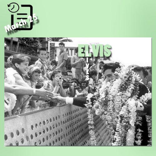 الویس در فرودگاه هونولولو 25 مارس 1961