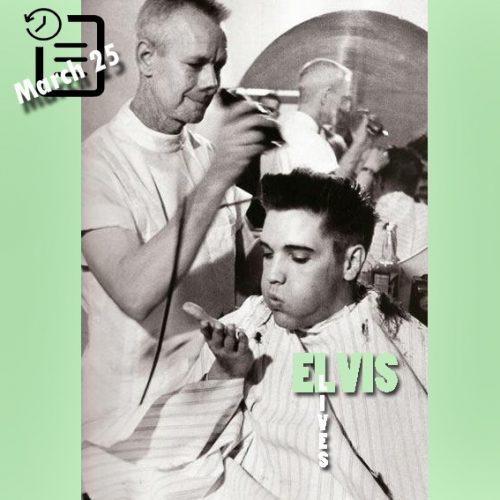 کوتاه کردن موهای الویس در چنین روزی 25 مارس 1958