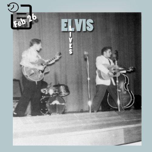 الویس در سالن شهر پنساکولا، فلوریدا چنین روزی 26 فوریه 1956