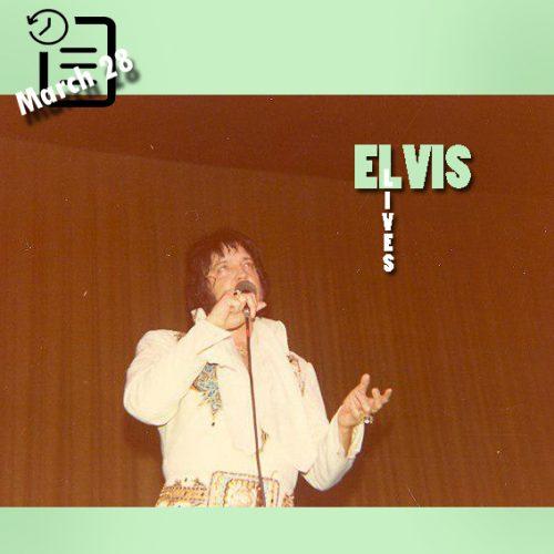 الویس در سالن شهرداری آستین، تگزاس چنین روزی 28 مارس 1977