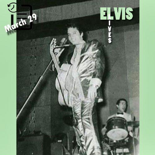 الویس در سالن کیل ، سنت لوئیس، میسوری چنین روزی 29 مارس 1957