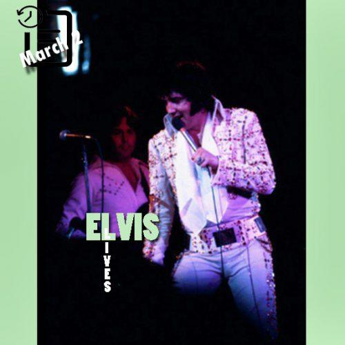 الویس در Mabee Special Events Center، دانشگاه اورال رابرتز در تولسا اوکلاهما چنین روزی 2 مارس 1974