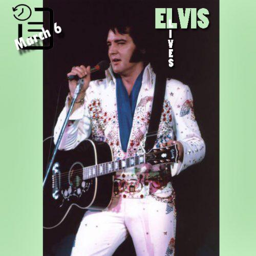 الویس در تالار اجتماعات گارت در مونتگمری ،آلاباما چنین روزی 6 مارس 1974