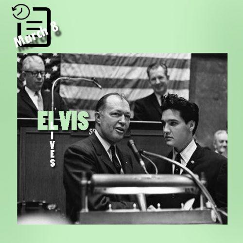 الویس در فرمانداری تنسی چنین روزی 8 مارس 1961