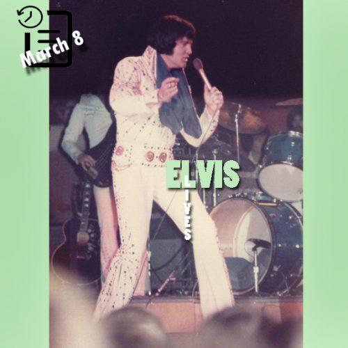 الویس در سیویک سنتر ،مونرو ؛لوییزیانا چنین روزی 8 مارس 1974