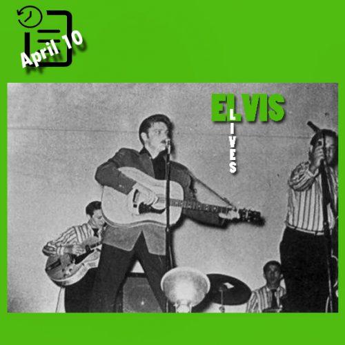 الویس در  Fair Park Auditorium، شهر لاباک تگزاس چنین روزی 10 آوریل 1956