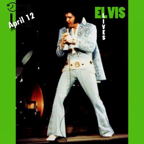 الویس در سالن بزرگ نمایشگاه شهر ایندیاناپولیس، ایندیانا چنین روزی 12 آوریل 1972