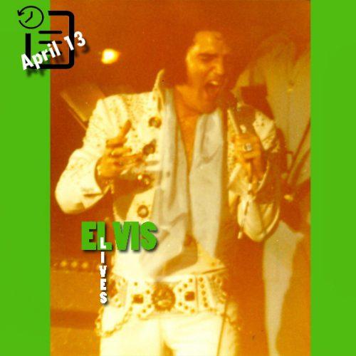 الویس در سالن بزرگ شارلوت، کارولینای شمالی چنین روزی 13 آوریل 1972