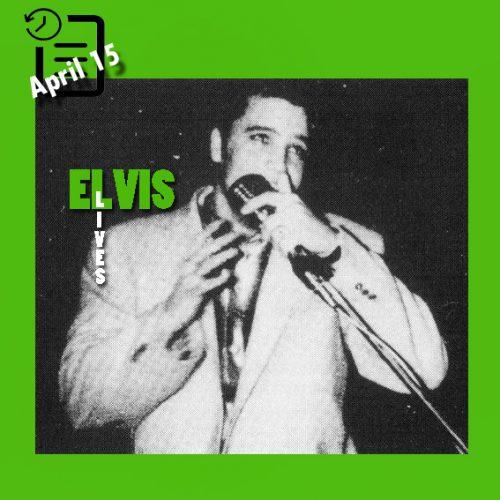 الویس در حال اجرا در شهر سن آنتونیو تگزاس 15 آوریل 1956