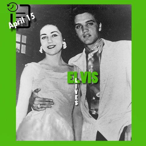 الویس به همراه کی ویلر در شهر سن آنتونیو تگزاس 15 آوریل 1956