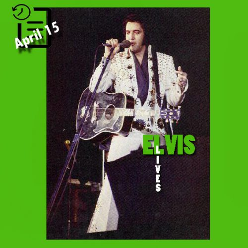 الویس در سالن بزرگ شهر ماکن جورجیا در ساعت 2:30 چنین روزی 15 آوریل 1972
