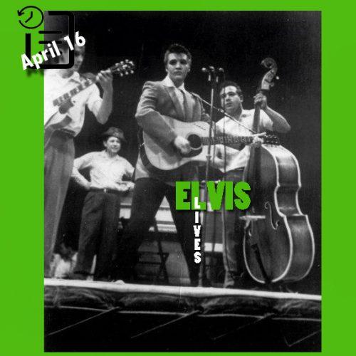 """الویس در Big """"D"""" Jamboree, Sportatorium شهر دالاس تگزاس چنین روزی 16 آوریل 1955"""