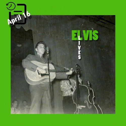 الویس در سالن بزرگ بنای یادبود شهر کورپس کریستی تگزاس چنین روزی 16 آوریل 1956
