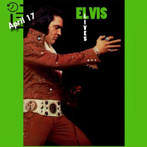 الویس در سالن بزرگ تی. اچ بارتون شهر لیتل راک، آرکانزاس چنین روزی 17 آوریل 1972