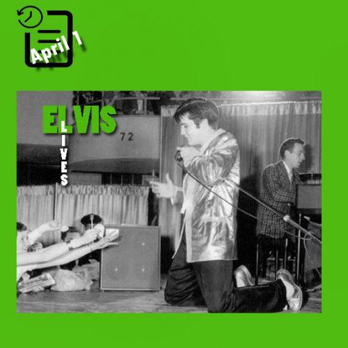 الویس در Memorial Auditorium، شهر بوفالو نیویورک چنین روزی 1 آوریل 1957